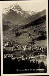Ak Kirchberg in Tirol, Panorama mit Großem Rettenstein