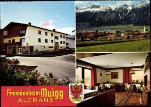 Wappen Ak Aldrans in Tirol, Fremdenheim Muigg, Innenansicht