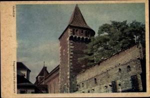 Ak Kraków Krakau Polen, Fragment murów obronnych