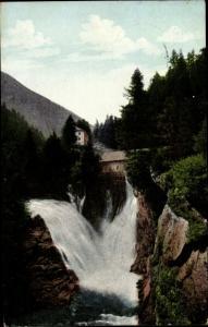 Ak Bad Gastein Badgastein Salzburg, Oberer Fall, Dr. E. Weber's Alpenkräutertee