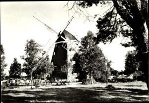 Ak Trassenheide Usedom an der Ostsee, Windmühle im Jugenderholungszentrum