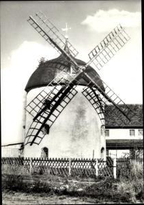 Ak Dittrichshütte Saalfeld an der Saale Thüringen, Windmühle, erbaut 1865