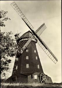 Ak Krakow am See Mecklenburg Vorpommern, Windmühle
