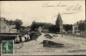 Ak Claye Souilly Seine et Marne, Le Canal, Eglise