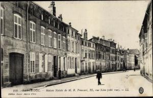 Ak Bar Le Duc Meuse, Maison Natale de M. R. Poincare, 35, rue Neve cote rue
