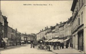 Ak Bar Le Duc Meuse, Rue Entre deux Ponts, Kutsche