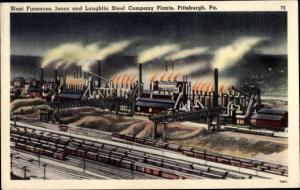 Ak Pittsburgh Pennsylvania USA, Blast Furnaces, Jones & Laughling Steel Company Plants