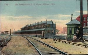 Ak Alliance Ohio USA, Pennsylvania R R Depot, train station