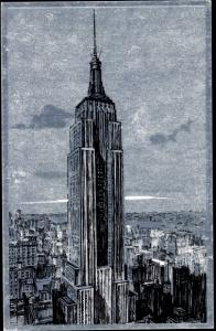 Silber Ak New York City USA, Empire State Building, general view