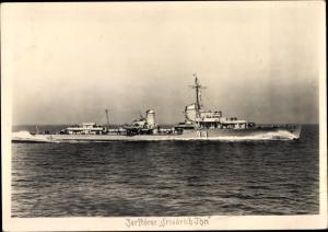 Ak Zerstörer Friedrichshain, Deutsches Kriegsschiff