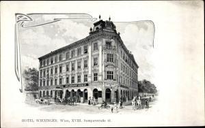 Ak Wien 18 Währing, Hotel Wieninger, Semperstraße 41