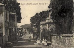 Ak Saint Thomas Amerikanische Jungferninseln, Episcopalian Church