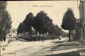 Ak Hesdin Pas de Calais, Avenue de Boulogne