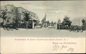 Ak Berlin Charlottenburg, Kriegerdenkmal Kaiserin Elisabeth Garde Grenad. Reg. 3, Offizier Casino