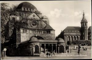 Ak Essen im Ruhrgebiet, Synagoge, Friedenskirche, Jahrhundertbrunnen