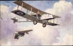 Ak Niederländisches Doppeldecker Jagdflugzeug, Segelflugzeug, I. WK