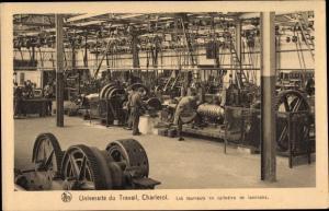 Ak Charleroi Wallonien Hennegau, Universite du Travail, tourneurs en cylindres de laminoirs, Fabrik
