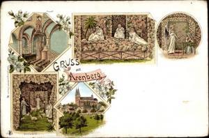 Litho Koblenz in Rheinland Pfalz, Kanzel, Schlafende Jünger, Einsiedelei, Verkündigungsgrotte