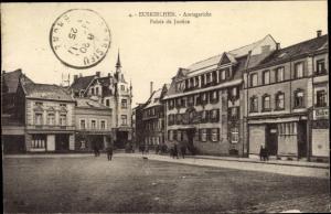 Ak Euskirchen in Nordrhein Westfalen, Amtsgericht, Palais de Justice, Straßenpartie
