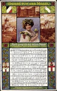 Lied Ak Breu, Simon, Trier in Rheinland Pfalz, Hoch preis ich mit vollem Pokale