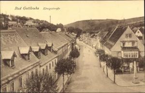 Ak Bad Gottleuba in Sachsen, Blick in die Königsstraße