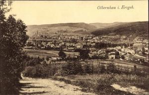 Ak Olbernhau im Erzgebirge Sachsen, Blick auf den Ort mit Umgebung