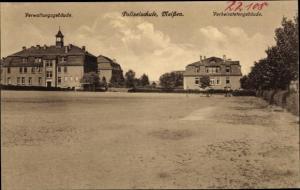 Ak Meißen in Sachsen, Polizeischule, Verheiratetengebäude, Verwaltungsgebäude