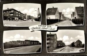 Ak Bockum Hövel Hamm Westfalen, Berliner Straße, Geiststraße, Uphof, Freilichrathstraße, Wohnhäuser