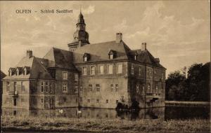 Ak Olfen in Nordrhein Westfalen, Schloss Sandfort, Außenansicht