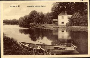 Ak Hamm in Westfalen, Rietz Garten, Lippepartie, Ruderboot