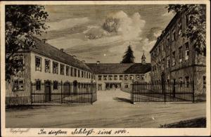 Künstler Ak Kupferzell Baden Württemberg, Früheres Schloss, Hohenlohesche Frauenschule