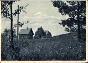 Ak Wüstenrot Baden Württemberg, Am Raitelberg, Wohnhäuser, Umgebung
