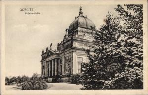 Ak Görlitz in der Lausitz, Ruhmeshalle, Gesamtansicht