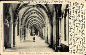 Ak Maulbronn im Schwarzwald, Kloster, Östlicher Kreuzgang, Ordensschwester, Kreuzgewölbe