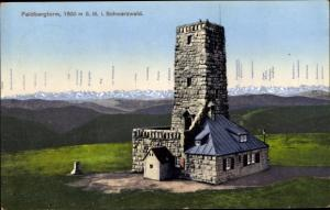 Ak Feldbergturm, Gesamtansicht, Alb. Schubnell Turmwart, Panorama mit Bergkette