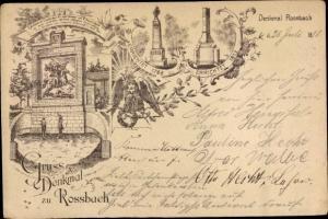 Litho Rossbach Reichardtswerben Weißenfels in Sachsen Anhalt, Denkmal