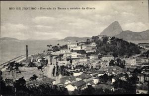 Ak Rio de Janeiro Brasilien, Entrada da Barra, outeiro da Gloria