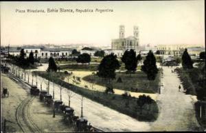 Ak Bahia Blanca Argentinien, Plaza Rivadavia