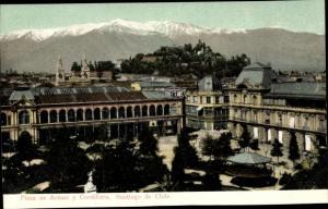 Ak Santiago de Chile, Plaza da Armas, Cordillera