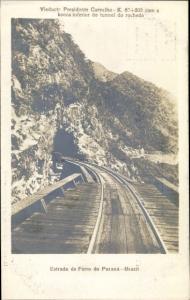 Ak Brasilien, Estrada de Ferro do Paraná, Viaducto Presidente Carvalho, tunnel do rochedo