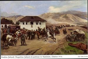 Künstler Ak Sailer, Jos. Andr., Deutsche Feldpost in Rumänien 1916, Bayerische Feldpost Expedition