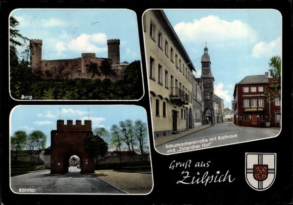Ak Zülpich Bad Münstereifel in Nordrhein Westfalen, Burg ...