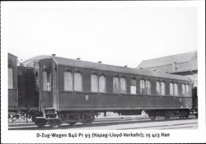Ak Deutsche Eisenbahn, D Zug Wagen B4ü Pr 93, Hapag Lloyd Verkehr, 15 413 Han