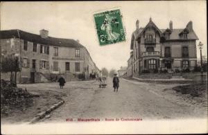 Ak Mauperthuis Seine et Marne, Route de Coulommiers