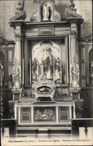 Ak Marchenoir Loir et Cher, Interieur de l'Eglise, Reliques de Saint Leonard