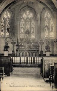 Ak Marchenoir Loir et Cher, L'Eglise, Grand autel