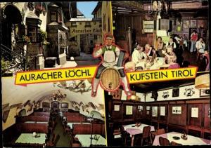Ak Kufstein in Tirol, Auracher Löchl, Außen- u. Innenansicht, Besucher