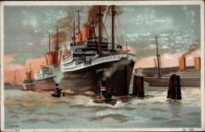 Künstler Ak Rüffer, G., Dampfer Albert Ballin im Hamburger Hafen, HAPAG