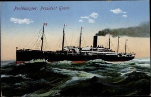Ak Postdampfer President Grant, HAPAG