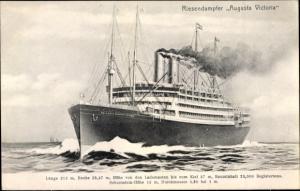 Ak Riesendampfer Augusta Victoria, HAPAG
